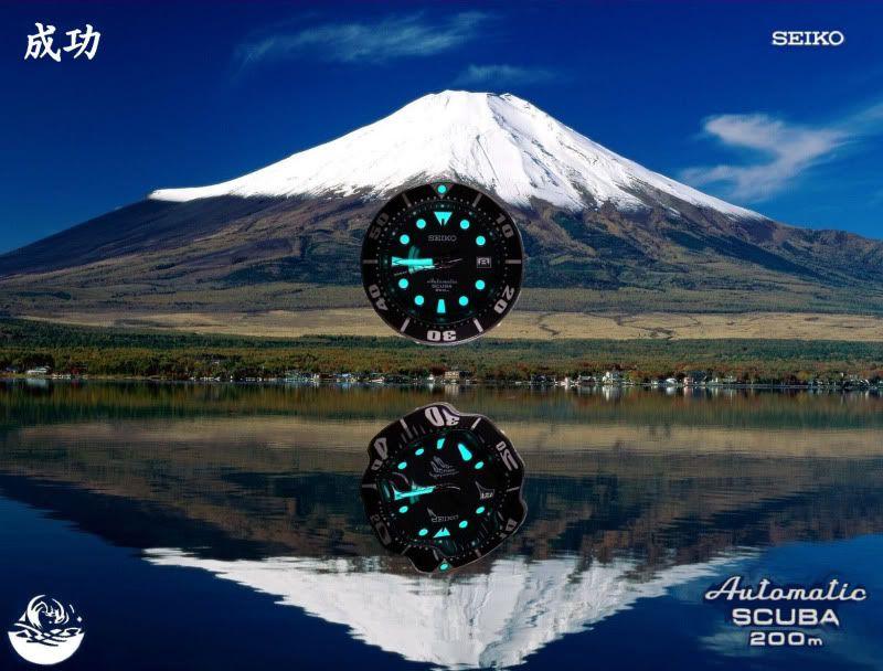 Watch-U-Wearing 8/22/10 MtFujiwithTsunamilogoinwhitewith-1