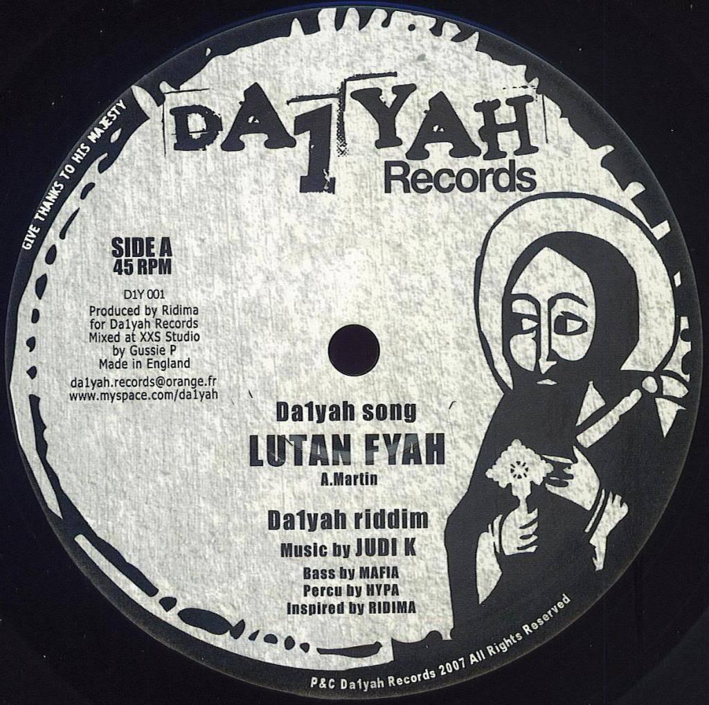 Lutan Fyah - Da1yah [10''] [2007] Da1yah10SideA