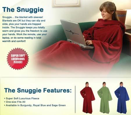 Snuggies for next season?? Warning COMPLETELY random Snuggie
