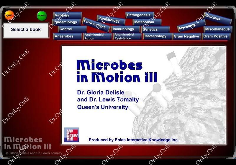 Microbes in Motion 3 CD-ROM - أسطوانة رائعة في الميكروبيولوجي والطفيليات والمناعة Micro_01
