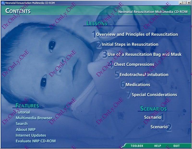 كتاب واسطوانة الإنعاش للرضع Textbook of Neonatal Resuscitation - Book with CD-ROM NRP_3