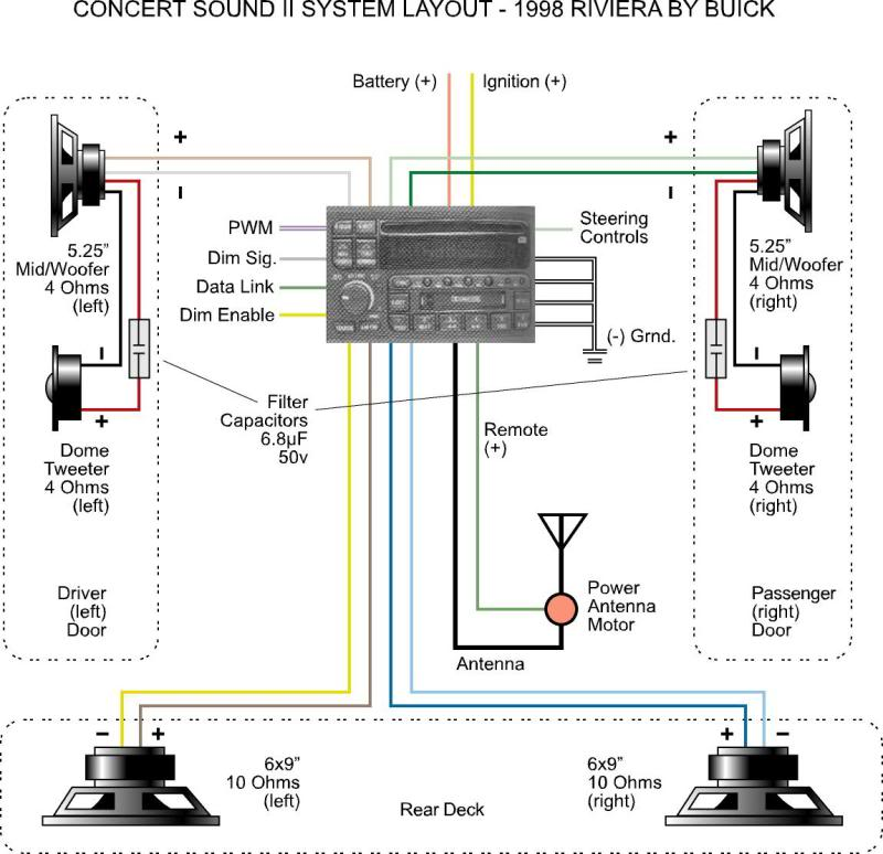 concert sound ii wiring diagram rh rivperformance editboard com 2011 buick regal speaker wiring diagram buick century stereo wiring diagram