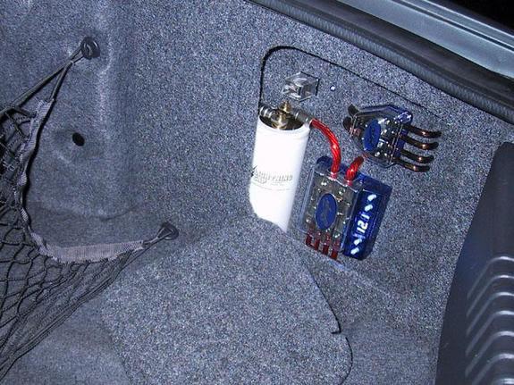 Amplifier ground points. Trunk1