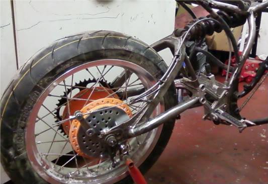 Yamaha XJ550 Rearbrakecable