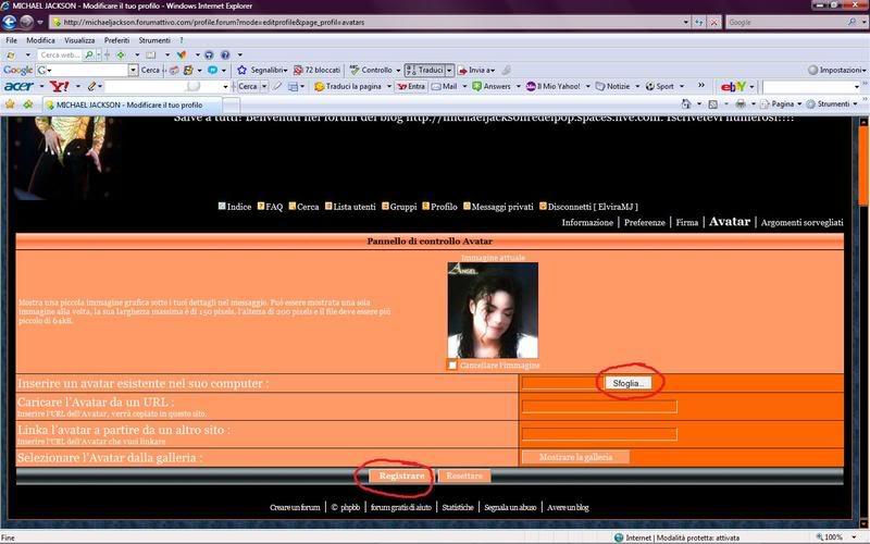 Come inserire avatar e firma nel forum 3