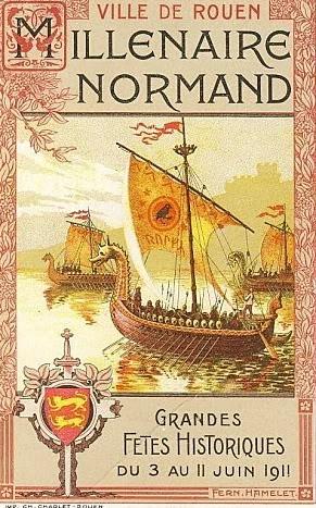 1911. Millénaire de la Normandie. Rouen---affiche----1911-Millenaire-de-la-Normandie--2-