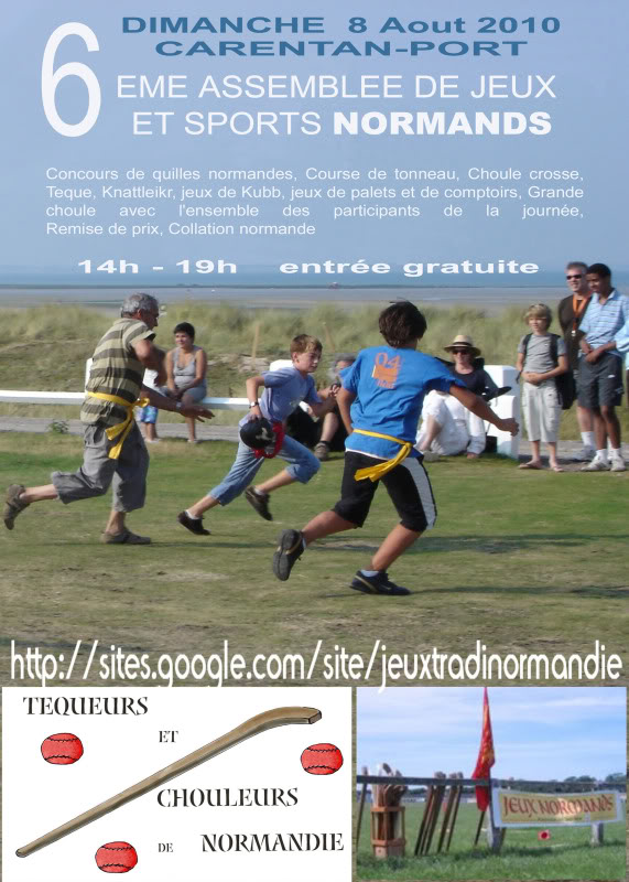 6e Assemblée des jeux et sports traditionnels Normands. AfficheCarentan-3