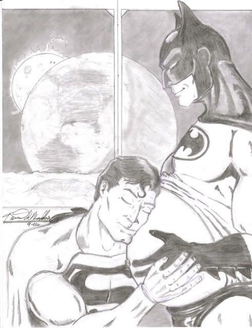 Batman and superman Artzh