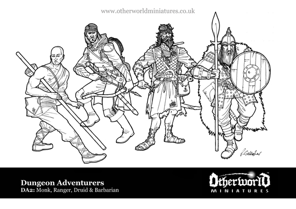 Indiegogo: Classic Dungeon Adventurer Miniatures DA2art