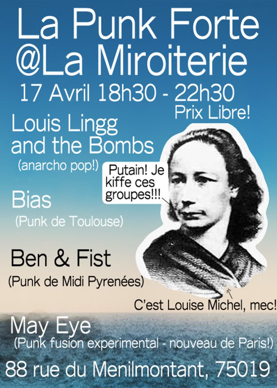 [17/04/2012] LOUIS LINGG AND THE BOMBS @ La Miroiterie! Flyer17042012