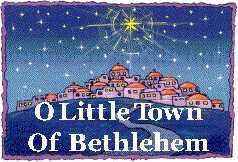 songs for CHRIST-MAS OLittleTownOfBethlehem