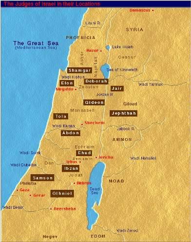 CHRONOLOGIC BIBLE ThebookofJudgesmap