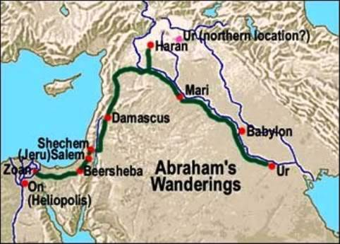 CHRONOLOGIC BIBLE Abraham_map