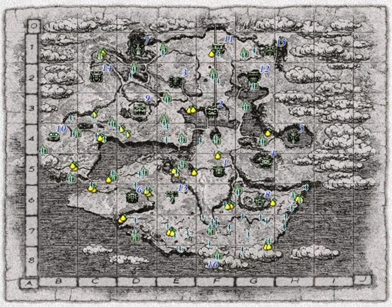 Shadow of the Colossus - Guia de Troféus ShadowoftheColossusMap
