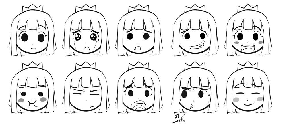 Prince Concept Expression Sheet PrinceFacialExpressions