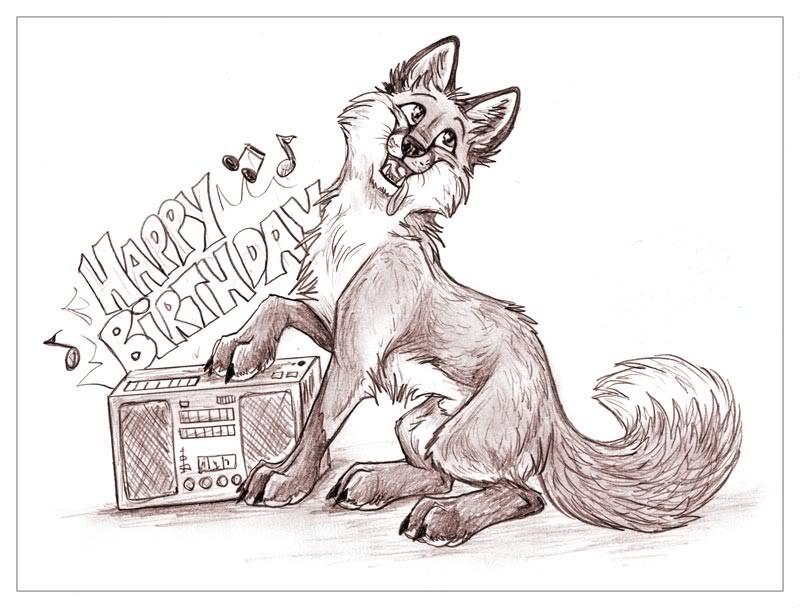 Bon anniversaire Nodamn! BirthdayFox