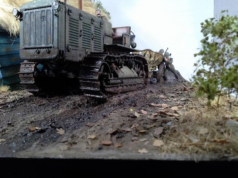 Tracteur Russe ChTZ S-65 [ TRUMPETER ] + Canon + Soldats [ MINI ART ] dans la boue de RUSSIE. 13230318_10208942179489269_59076683961418309_n_zpsvcrzt2ho