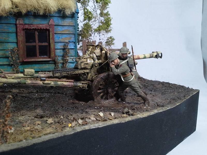 Tracteur Russe ChTZ S-65 [ TRUMPETER ] + Canon + Soldats [ MINI ART ] dans la boue de RUSSIE. 13239127_10208942180609297_1797490319740165551_n_zpsw2aysxu2