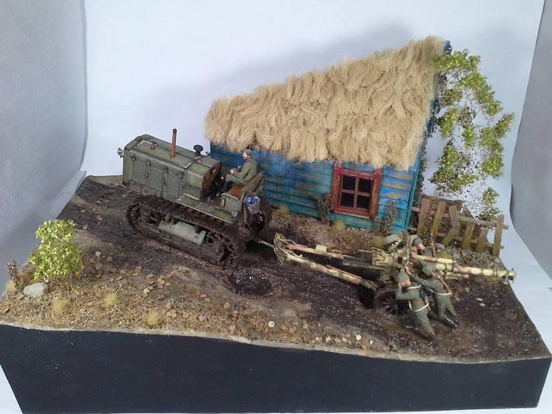 Tracteur Russe ChTZ S-65 [ TRUMPETER ] + Canon + Soldats [ MINI ART ] dans la boue de RUSSIE. 13241334_10208942178489244_5772941025043769386_n_zpsukkv4xb8