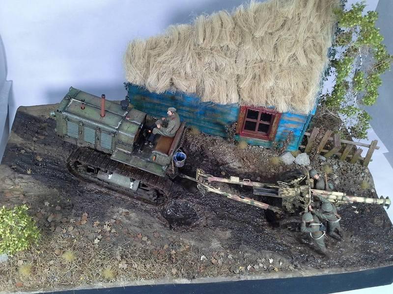 Tracteur Russe ChTZ S-65 [ TRUMPETER ] + Canon + Soldats [ MINI ART ] dans la boue de RUSSIE. 13254047_10208942182009332_5499013693601269564_n_zpsv0qgdud3