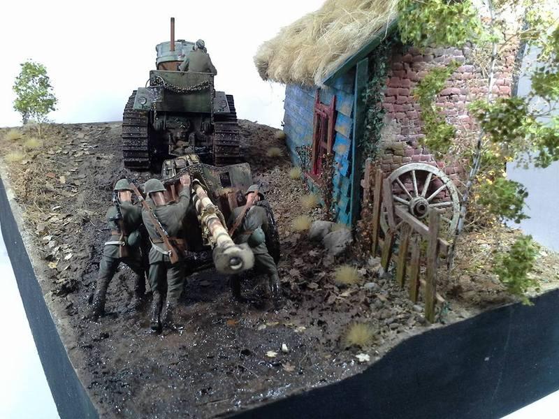 Tracteur Russe ChTZ S-65 [ TRUMPETER ] + Canon + Soldats [ MINI ART ] dans la boue de RUSSIE. 13256427_10208942181209312_6493697025110016990_n_zpsfho7ddoa