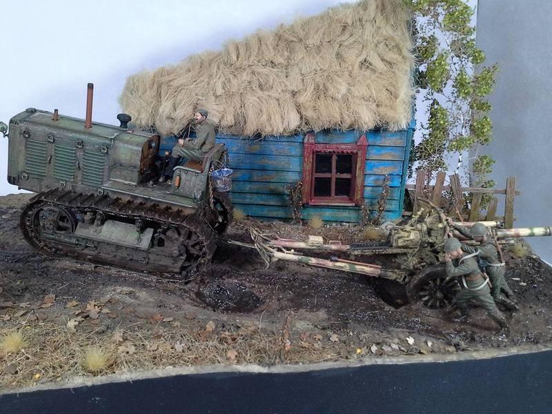 Tracteur Russe ChTZ S-65 [ TRUMPETER ] + Canon + Soldats [ MINI ART ] dans la boue de RUSSIE. 13266074_10208942179049258_7090016998356123960_n_zpsvpzo1wiv