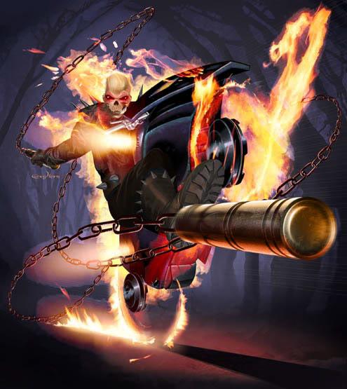 LE CAVALIER FANTOME ( Ghost  Rider ) Ghost-Rider-movie-harley