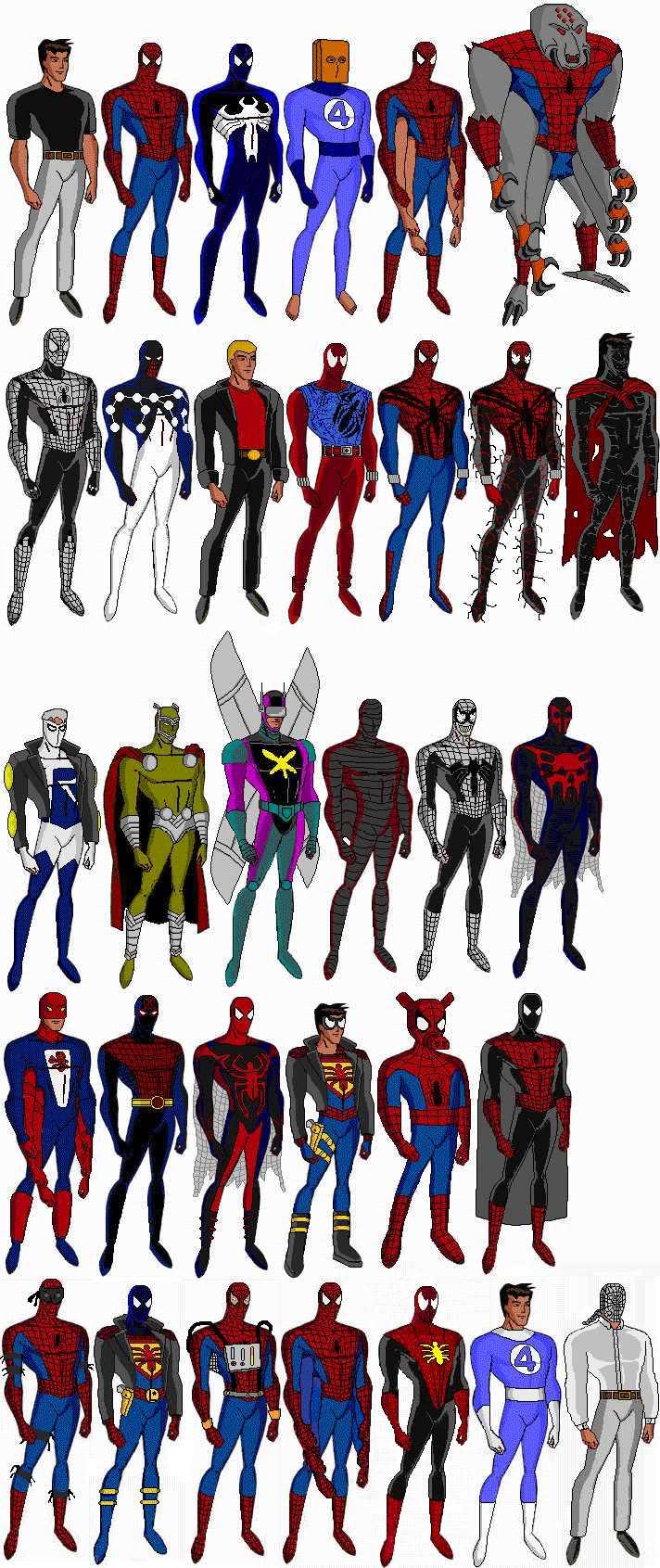 PETER PARKER / SPIDERMAN Costumes