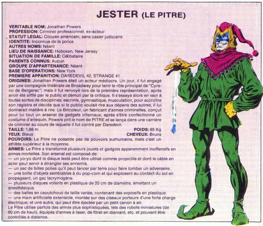 Le Pitre ( Jester ) Jester