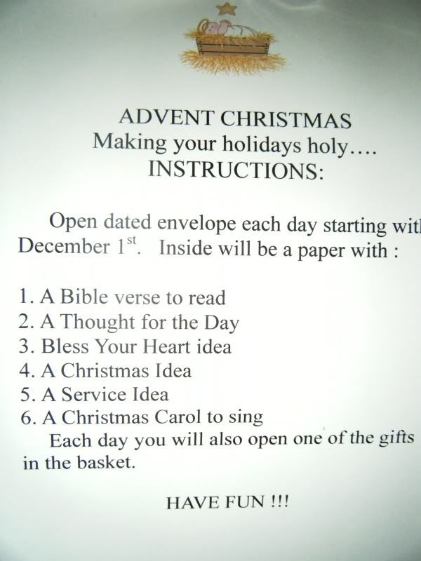 Advent Baskets --- Project for August Advent2011instructions