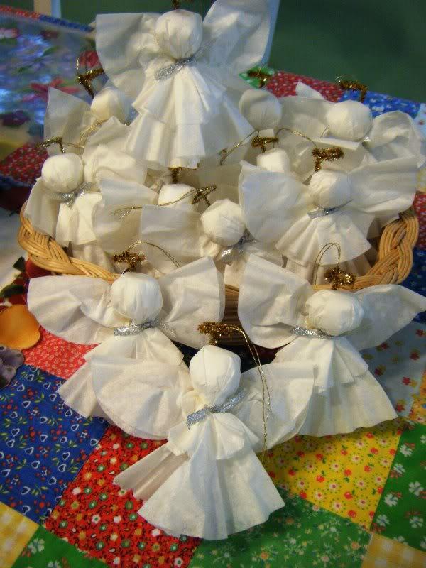 Coffee Filter Angel Ornaments (pictures) Coffeefilterangels