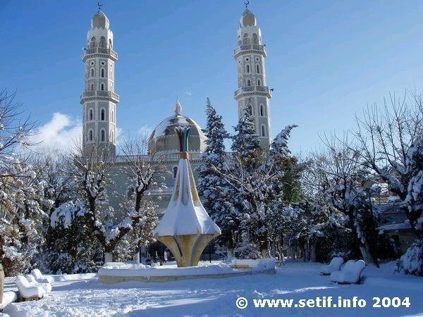 صور لبلادي الجزائر وهي مغطات بالثلوج Setif8zf
