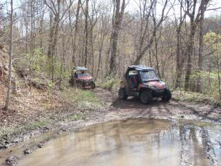 Riding Boyer Woods in Putnam County on 04/15/2012 2010WVSXSRIDERSSpringRide133