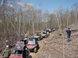 Riding Boyer Woods in Putnam County on 04/15/2012 2010WVSXSRIDERSSpringRide140