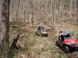 Riding Boyer Woods in Putnam County on 04/15/2012 2010WVSXSRIDERSSpringRide148