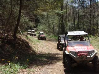Riding Boyer Woods in Putnam County on 04/15/2012 2010WVSXSRIDERSSpringRide161