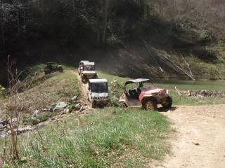 Riding Boyer Woods in Putnam County on 04/15/2012 2010WVSXSRIDERSSpringRide194