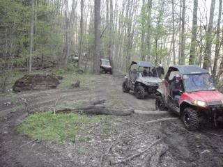 Riding Boyer Woods in Putnam County on 04/15/2012 2010WVSXSRIDERSSpringRide229