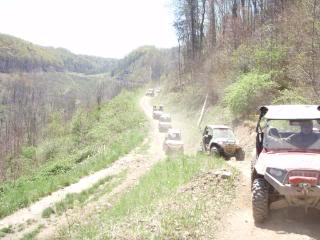 Riding Boyer Woods in Putnam County on 04/15/2012 2010WVSXSRIDERSSpringRide256