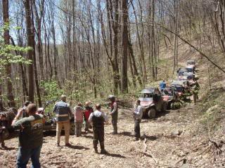 Riding Boyer Woods in Putnam County on 04/15/2012 2010WVSXSRIDERSSpringRide258