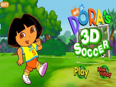 Dora's 3-D Soccer -jeu pour enfant Screen1-5