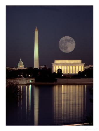 Masoni, Illuminati i NWO 100360Moonrise-over-the-Lincoln-Mem