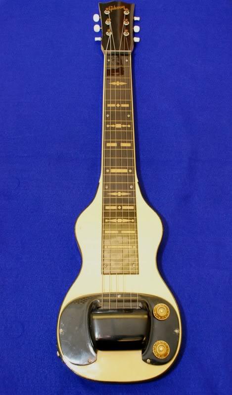 Modeles Gibson lap steel WhiteGibsonBR-61