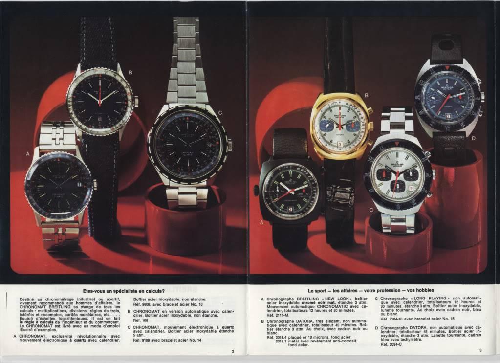 (documents) documentation commerciale Breitling années 70 P2-3