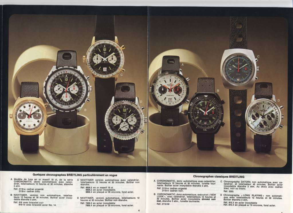 (documents) documentation commerciale Breitling années 70 P4-5