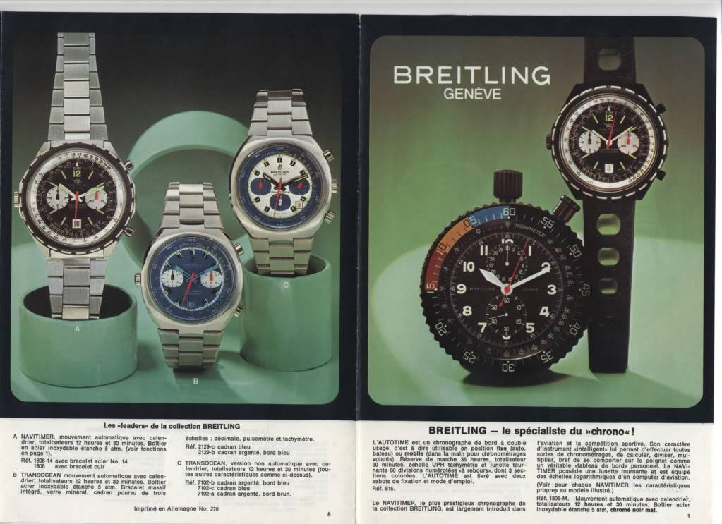 (documents) documentation commerciale Breitling années 70 P8-1