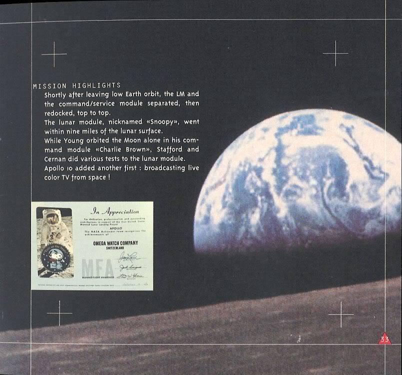 (documents) rare livre commercial sur l'Omega Speedmaster P33