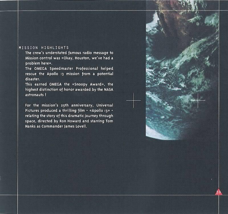 (documents) rare livre commercial sur l'Omega Speedmaster P39