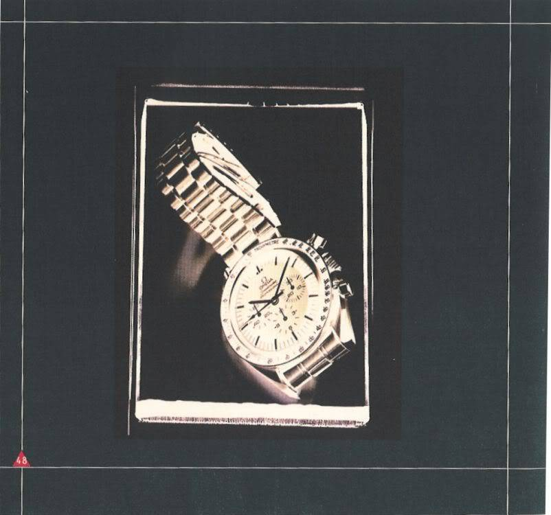 (documents) rare livre commercial sur l'Omega Speedmaster P48