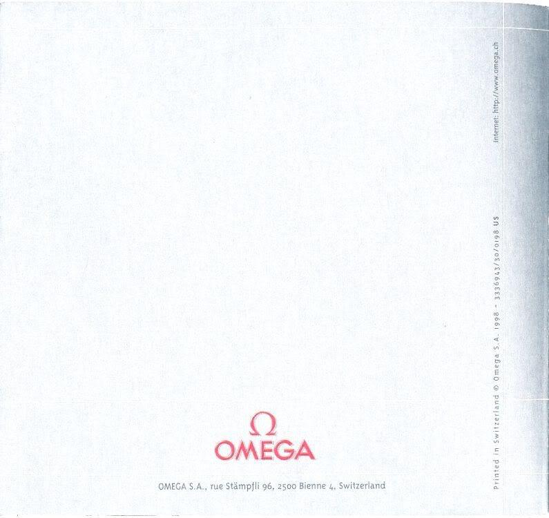 (documents) rare livre commercial sur l'Omega Speedmaster P56